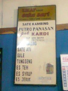 menu yang disajikan